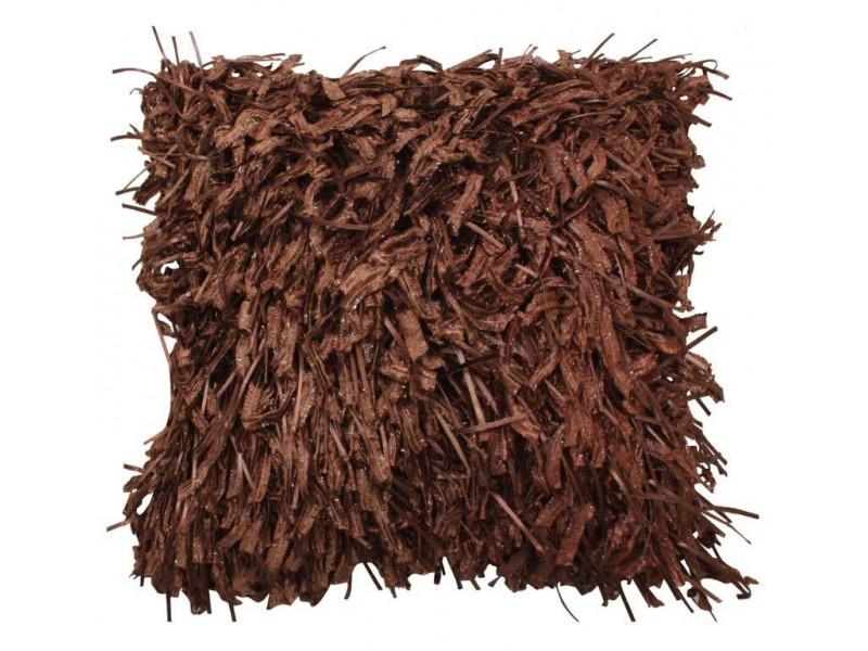 CIMC home Chocolate Shaggy Cushion