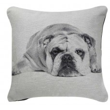CIMC home Black And White Bulldog Cushion