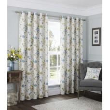 Fusion Carrington Eyelet Silver Curtains and Cushions