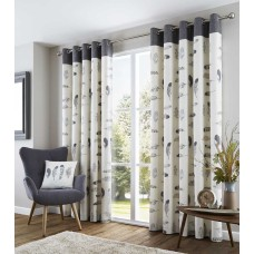 Fusion Idaho Eyelet Charcoal Curtains and Cushions