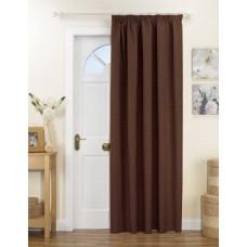 Curtina Kent Pencil Pleat Chocolate Door Curtain