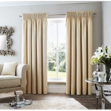 Curtina Rimini Pencil Pleat Natural Curtains and Cushions