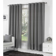 Fusion Eyelet Sorbonne Charcoal Curtains and Cushions