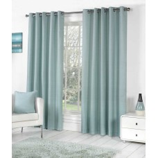 Fusion Eyelet Sorbonne Duck Egg Curtains and Cushions
