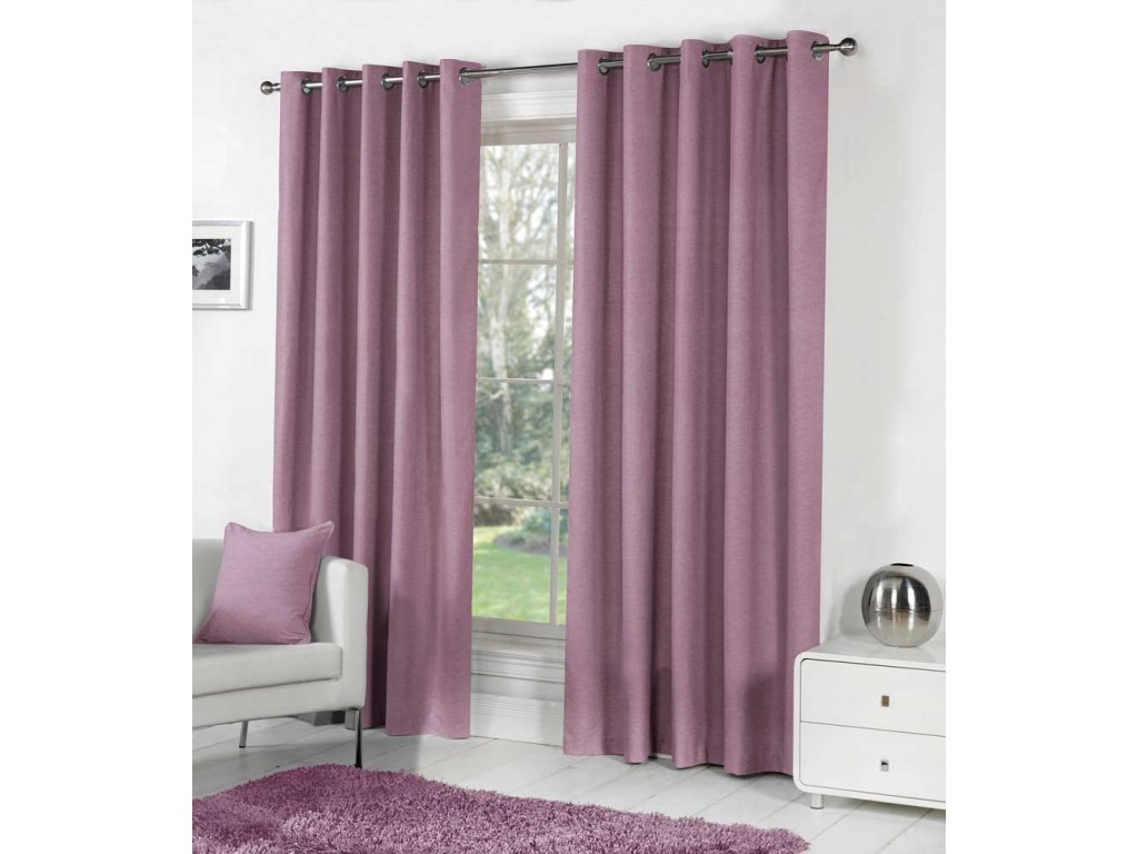 Fusion Sorbonne Eyelet Heather Curtains And Cushions
