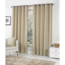 Fusion Eyelet Sorbonne Natural Curtains and Cushions