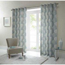 Fusion Woodland Trees Duckegg Eyelet Curtains and Cushions