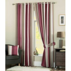 Curtina Whitworth Eyelet Claret Curtains, Ties Backs and Cushions
