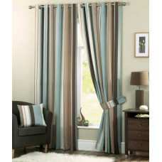 Curtina Whitworth Eyelet Duck Egg Curtains, Ties Backs and Cushions
