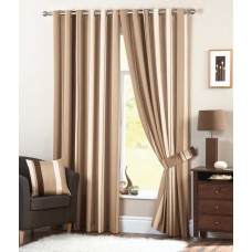 Curtina Whitworth Eyelet Natural Curtains, Ties Backs and Cushions
