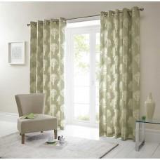 Fusion Woodland Trees Green Eyelet Curtains and Cushions