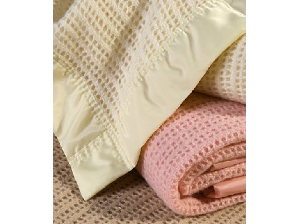 John Atkinson Cellular Atkincel Wool Blanket Satin Bound