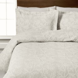 Design Port Arley Ivory Jacquard Cotton Duvet Cover and Coordinates