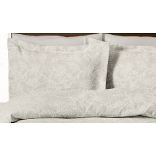 Design Port Arley Ivory Jacquard Cotton Oxford Pillowcase