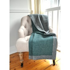 Design Port New Croft Grey/Teal Brushed Cotton Throw