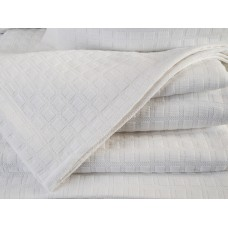Design Port New Disley White Woven Cotton Bedspreads
