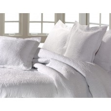 Design Port New Forest White Woven Cotton Bedspreads