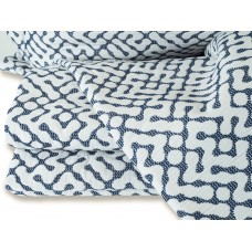 Design Port New Hale Navy Woven Cotton Bedspreads