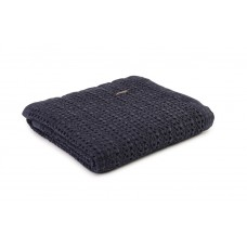 Design Port New Harris Navy Woven Cotton Throw
