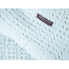 Design Port Harris Pale Blue Woven Cotton Throw