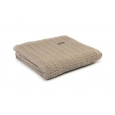 Design Port New Harris Taupe Woven Cotton Throw