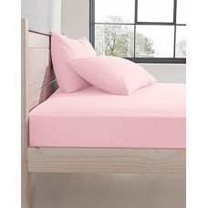 Design Port Premium Brushed Cotton Pink Fitted sheets