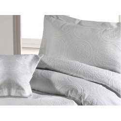 Design Port Stowe White Jacquard Cotton Duvet Cover Sets and Coordinates