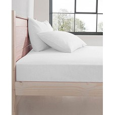 Design Port Premium Brushed Cotton White Fitted sheets