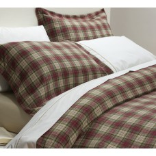 Design Port Winton Red Brushed Cotton Duvet Covers