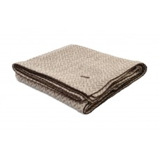 Design Port New Kendal Taupe Jacquard Cotton Throw