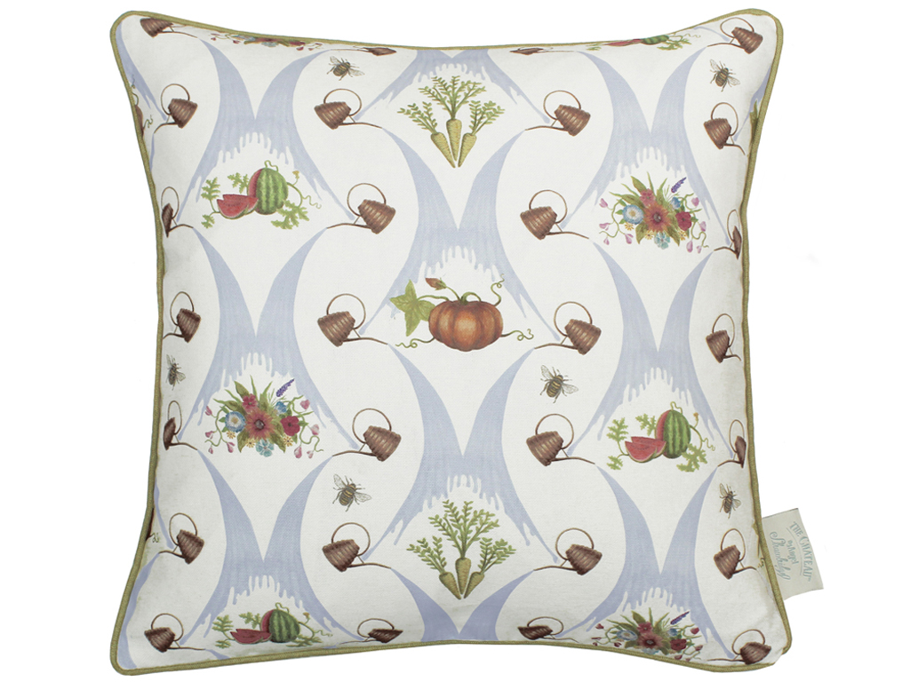 The Chateau by Angel Strawbridge A Watering Can Harvest Filled Cream Cushion