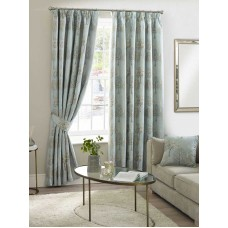 Design Studio Arden Duck Egg Pencil Pleat Lined Curtains