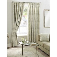 Design Studio Arden Natural Pencil Pleat Lined Curtains