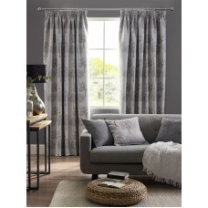Design Studio Arden Silver Pencil Pleat Lined Curtains