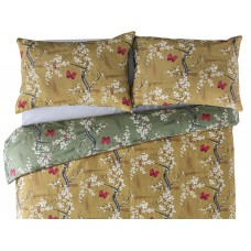 The Chateau by Angel Strawbridge Blossom Basil Ochre Reversible Duvet Cover Sets