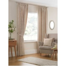 Design Studio Beatrice Cream Pencil Pleat Lined Curtains