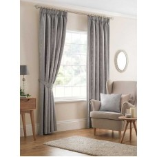 Design Studio Beatrice Silver Pencil Pleat Lined Curtains