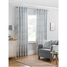 Design Studio Everley Azure Eyelet Lined Curtains