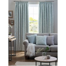 Design Studio Eleanor Aqua Pencil Pleat Lined Curtains