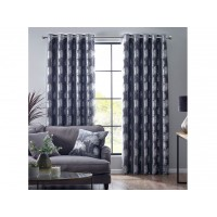 Design Studio New Enchanted Forest Charcoal Eyelet Lined Curtains