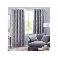 Design Studio New Enchanted Forest Silver Eyelet Lined Curtains