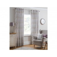 Design Studio New Everley Heather Eyelet Lined Curtains
