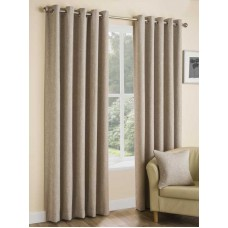 Design Studio Huxley Oatmeal Eyelet Lined Curtains