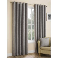 Design Studio Huxley Silver Eyelet Lined Curtains
