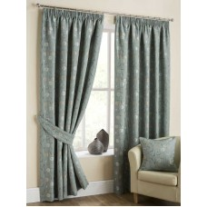 Design Studio Isla Duck Egg Pencil Pleat Lined Curtains