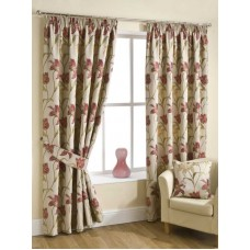 Design Studio Lily Chintz Pencil Pleat Lined Curtains