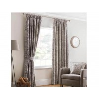 Design Studio Eden Steeple Grey Pencil Pleat Lined Curtains