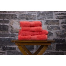 Deyongs 1846 Bliss Pima 650gsm Cotton Coral Towel and Mat Range