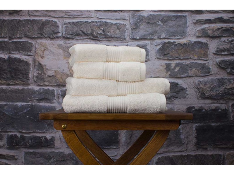 Deyongs 1846 Bliss Pima 650gsm Cotton Cream Towel and Mat Range