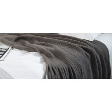 Patricia Rose Wishbone Charcoal Throw